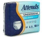 Attends Extra Absorbency Underwear Large (44-58 Inches)