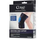 Curad Adjustable Knee Support with Microban, Black