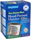 Lifesource Blood Pressure Monitor Dual Memory Wrist Ub-512