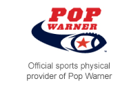 Official sports physical provider of Pop Warner.